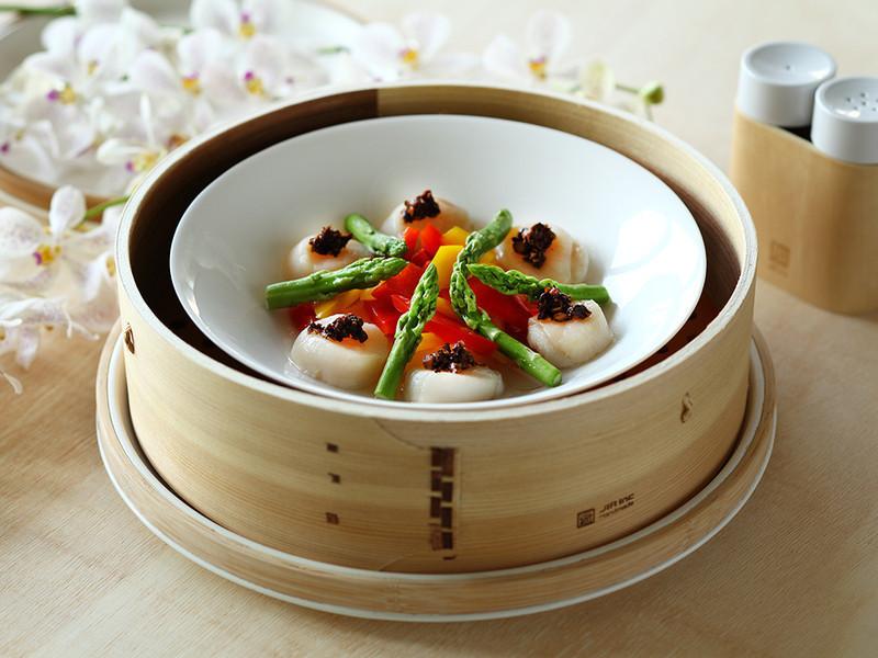 JIA Inc.蒸鍋蒸籠|彩椒蘆筍鮮干貝