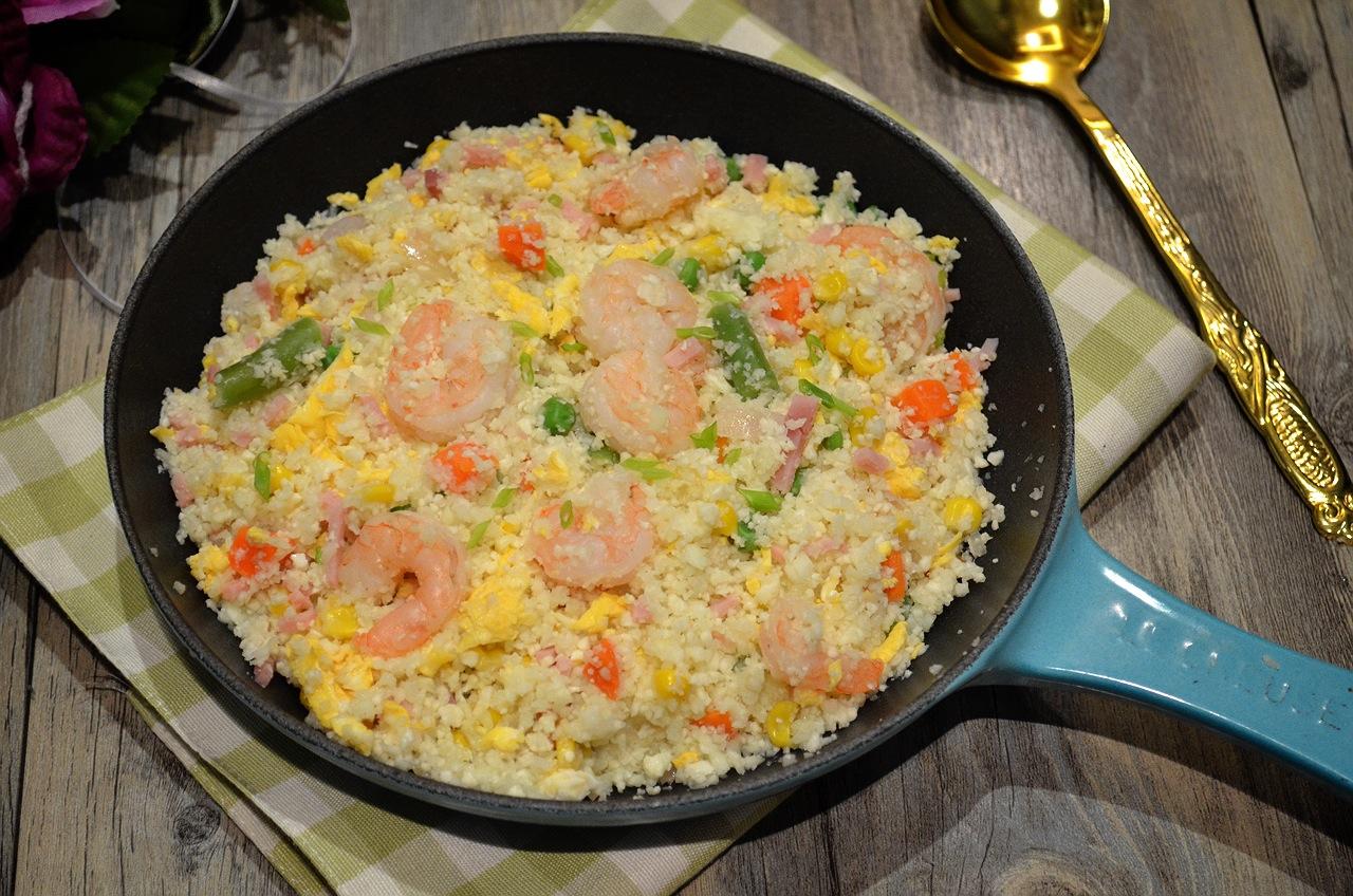 蝦仁蛋炒花椰菜飯