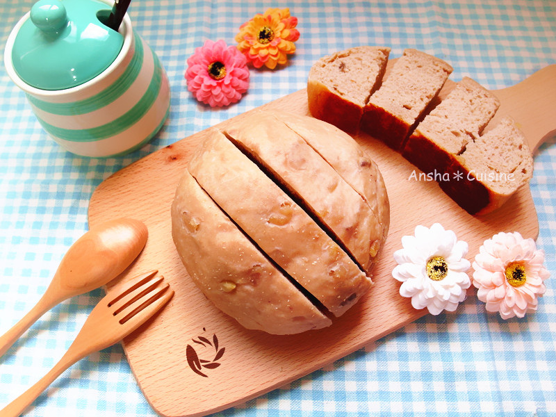 電鍋零失敗♡義式咖啡核桃麵包(免揉)