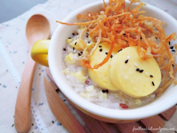 酥炸金针菇豆腐粥