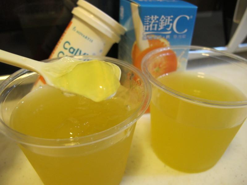 柳橙CC綠茶凍『諾鈣C發泡錠』