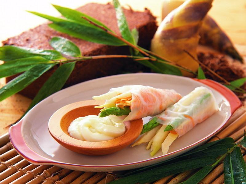 【桂冠沙拉就醬調】三筍醋味沙拉捲
