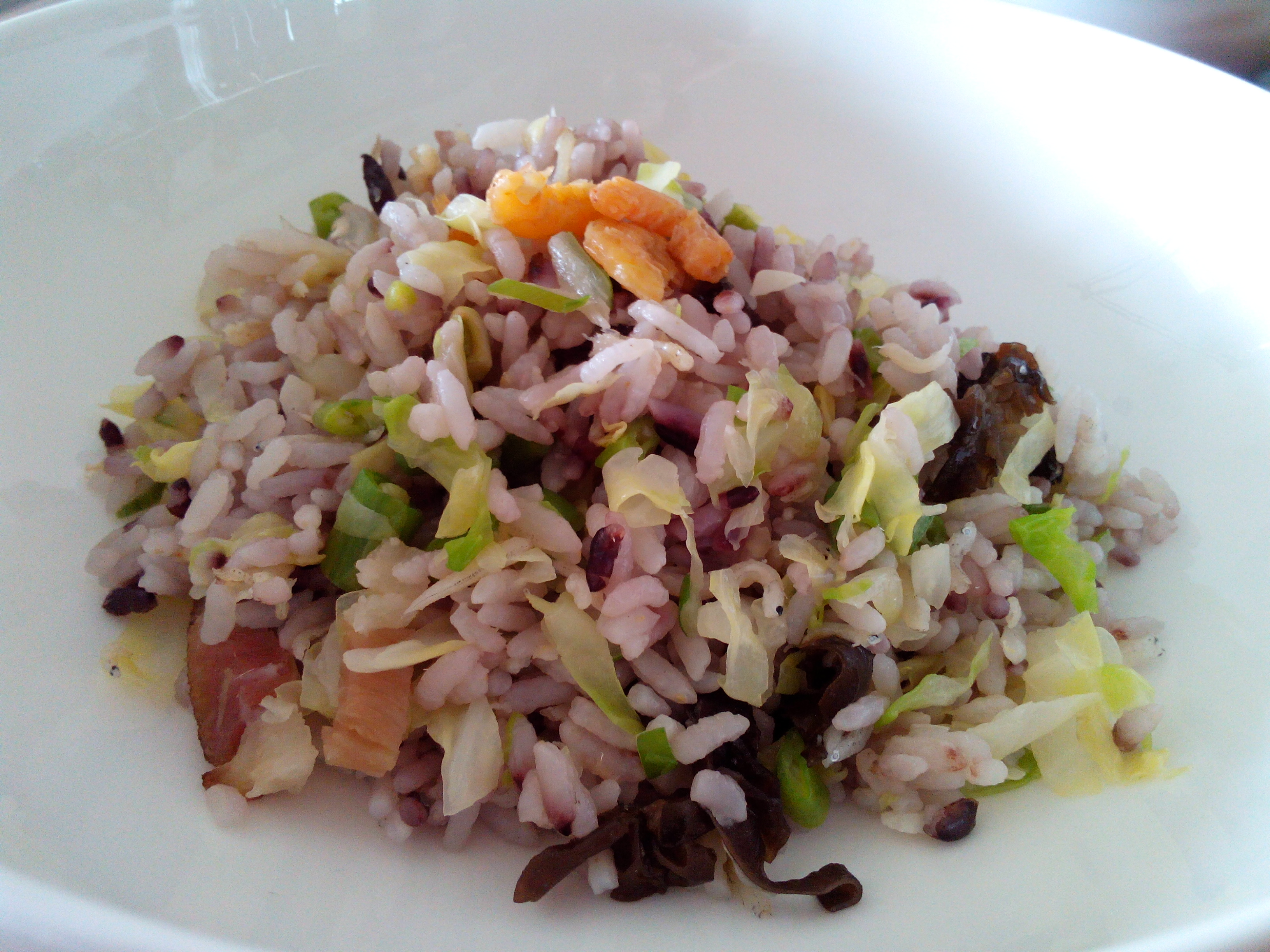 冬菜臘肉黑白雜錦炒飯