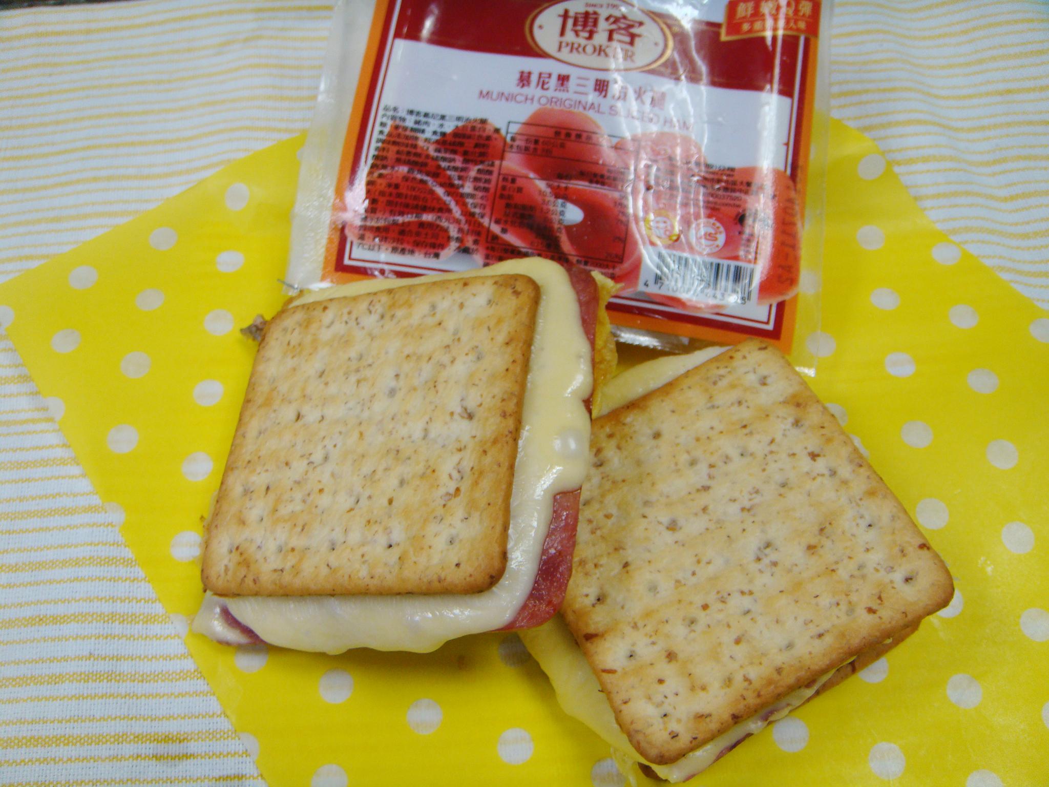 餅乾三明治-博客原味切片火腿