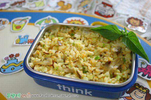 素食副食品-菇菇松子拌飯
