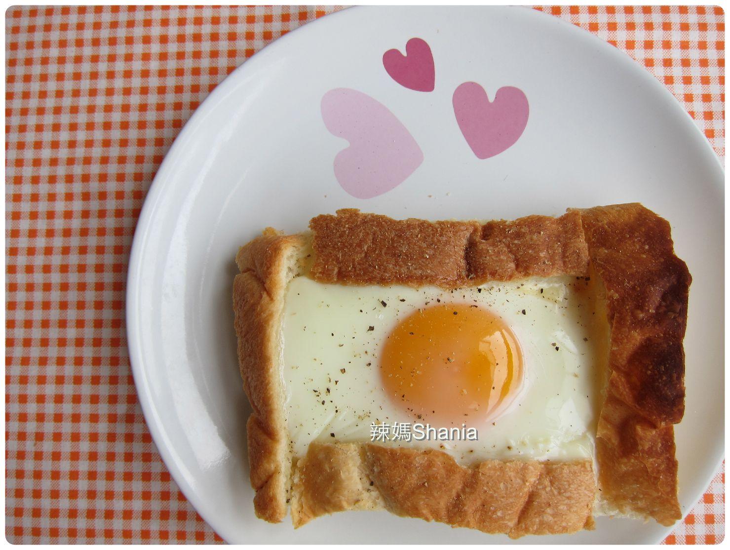 簡單, 低卡的早餐 -- 烤太陽嫩蛋土司