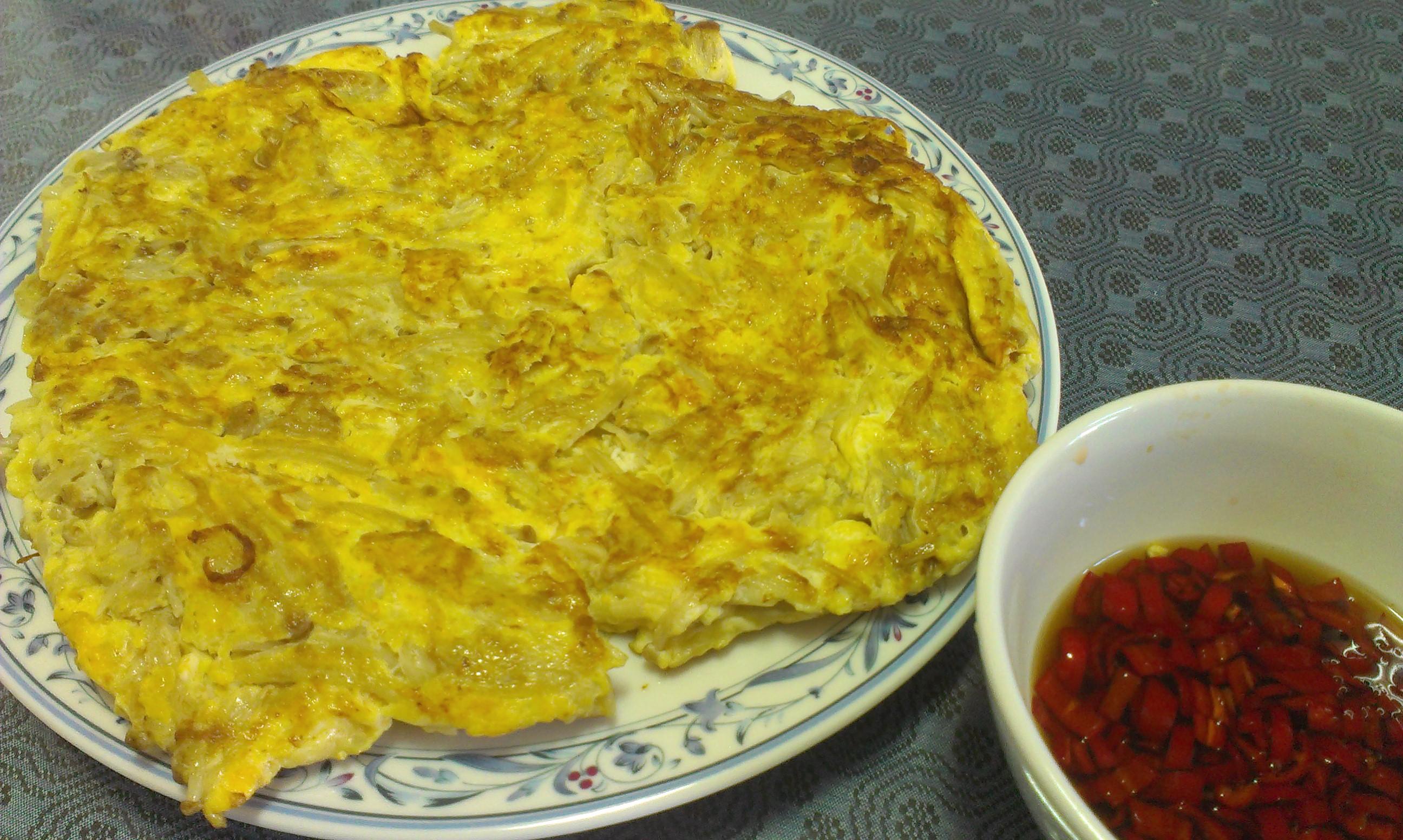 泰式魚露醬汁金針菇煎蛋