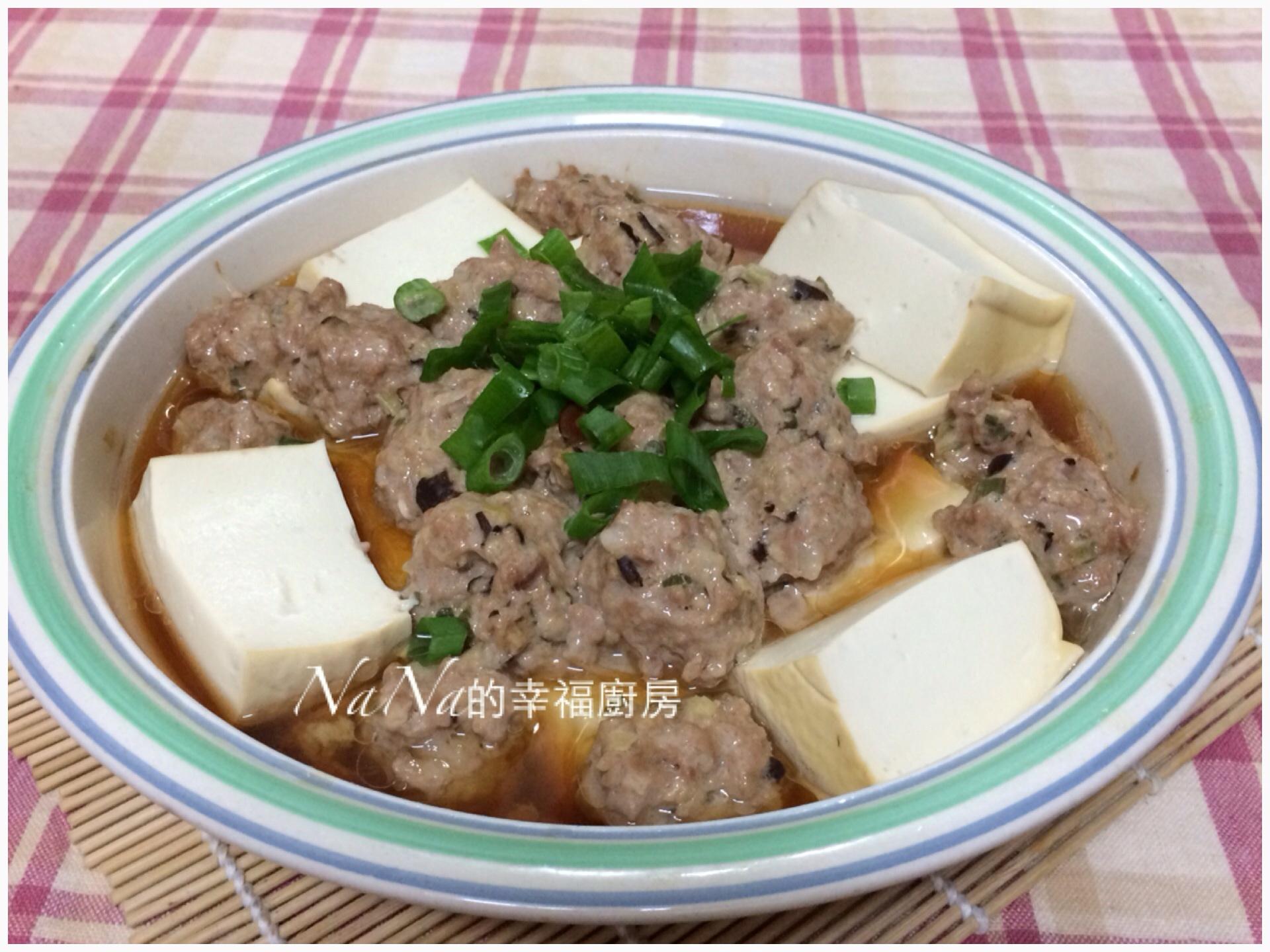 香菇肉丸蒸豆腐