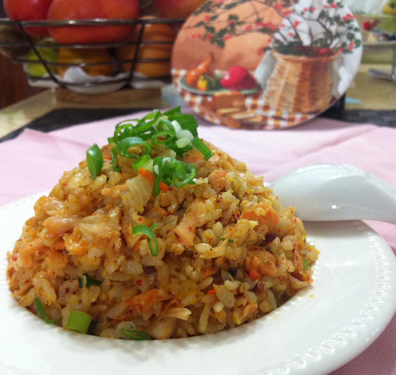 泡菜鮭魚炒飯