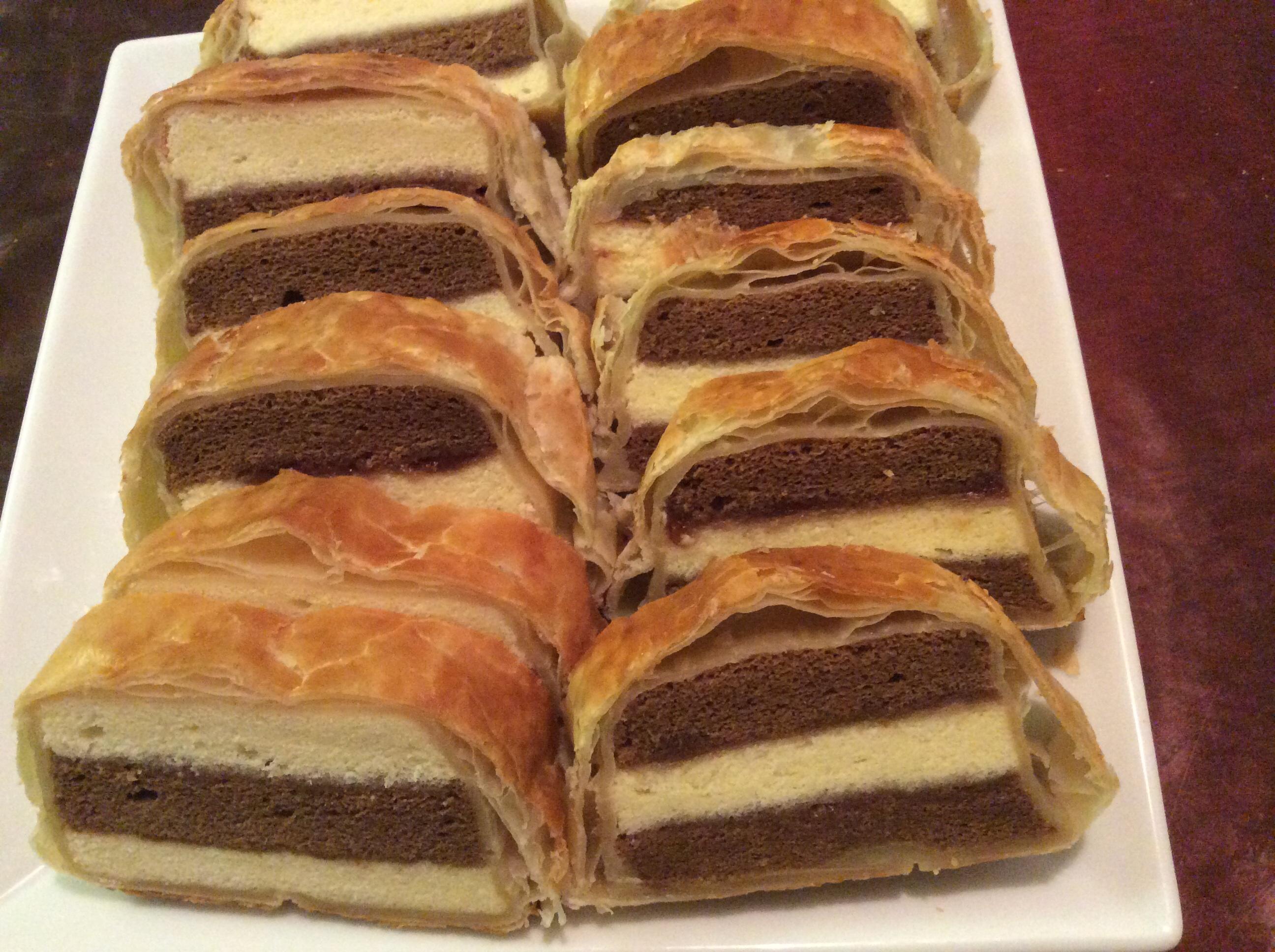 雙色酥皮蛋糕