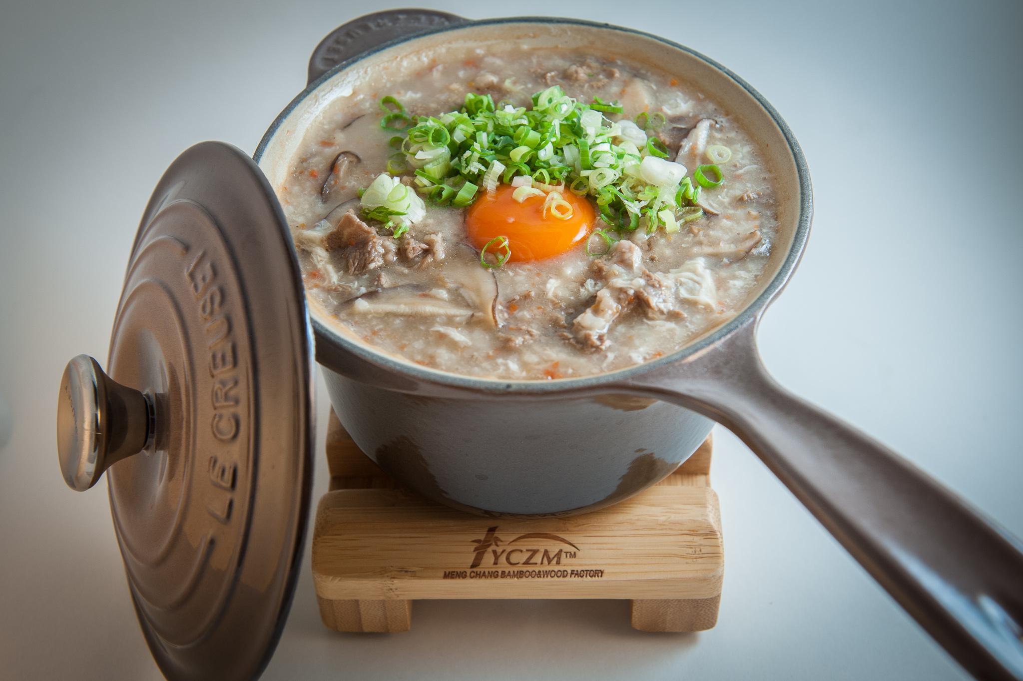 香菇滑蛋牛肉粥