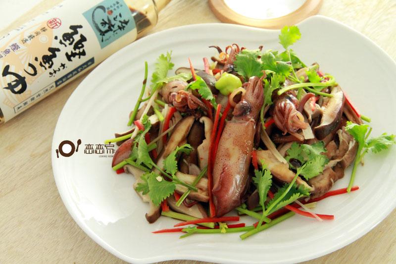 山葵醬油烤拌香菇小管 淬釀節氣食譜