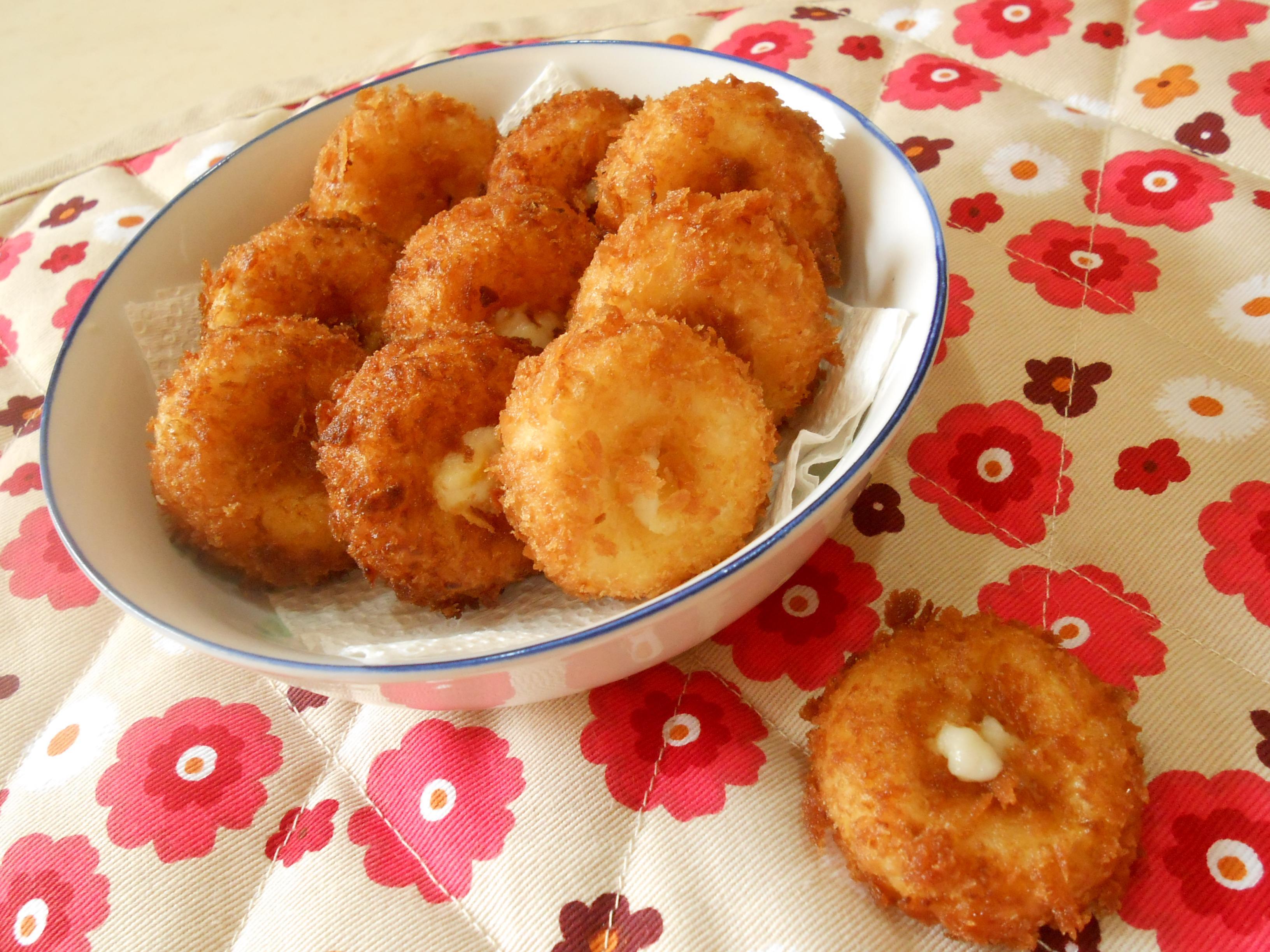 日式の奶油玉米可樂餅