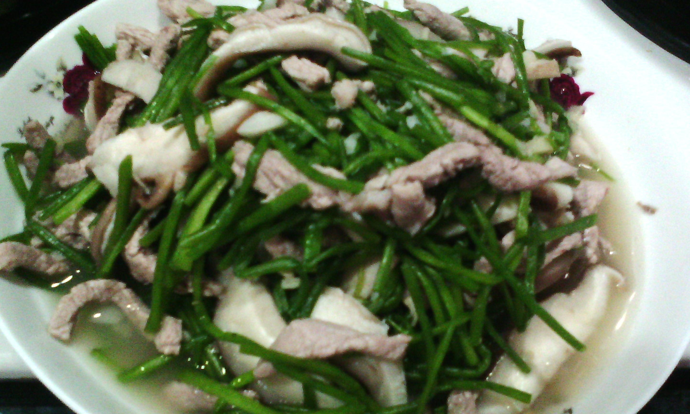 水蓮菜炒肉絲