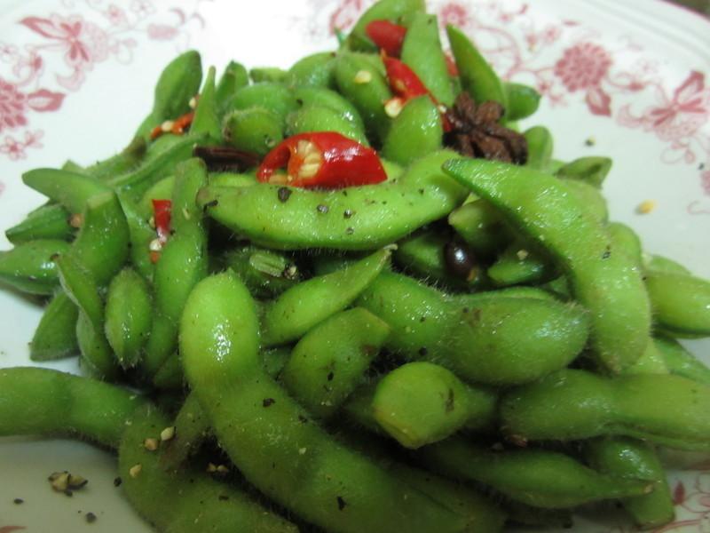 開胃小菜4---涼拌毛豆夾