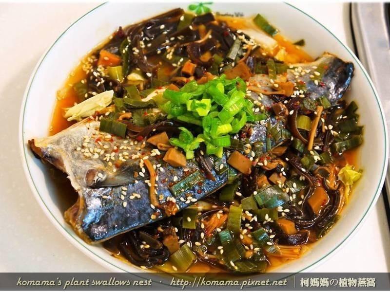 麻辣黑菇醬蒸靖魚.柯媽媽の植物燕窩
