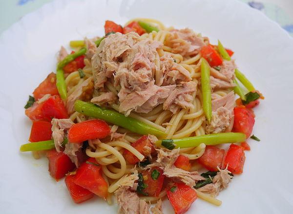 冷拌蕃茄鮪魚義大利麵