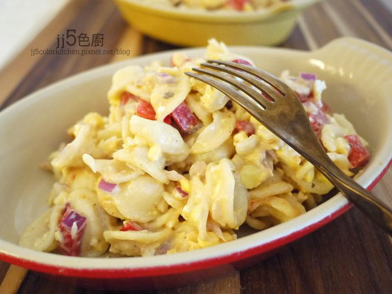 鮪魚蛋通心麵沙拉