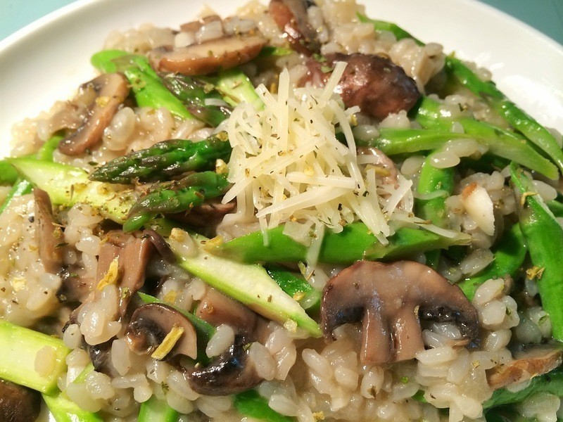 白酒蘑菇蘆筍起司燉飯