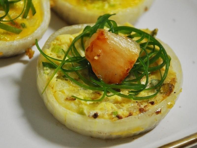 干貝洋蔥圈烤蛋