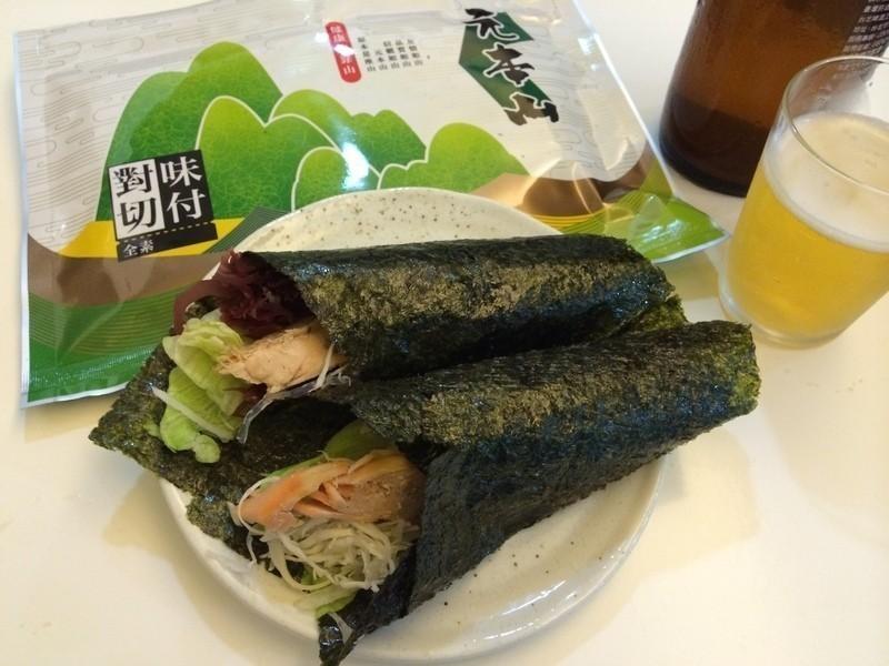 盛夏薄鹽鮭魚輕手捲元本山海苔