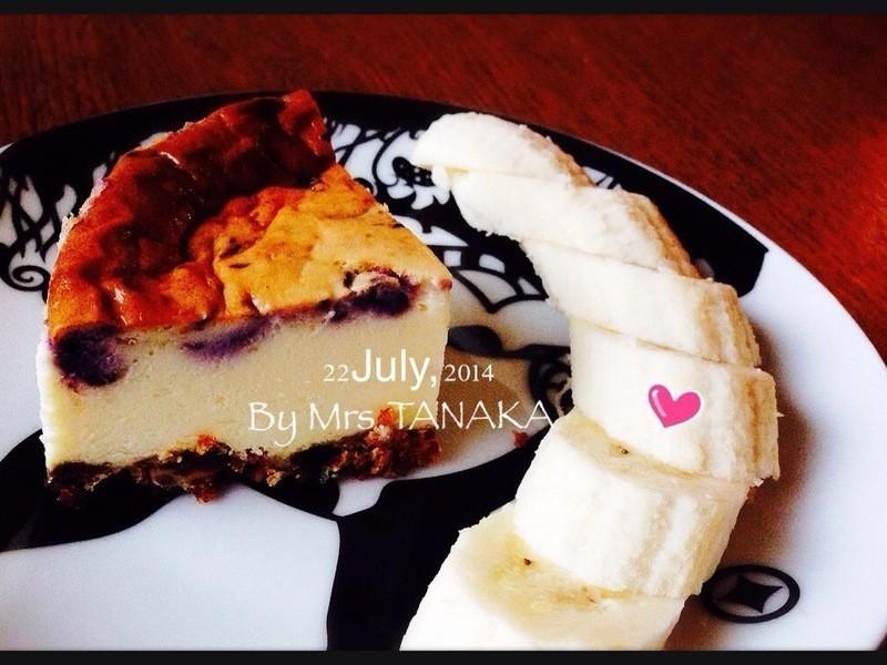 超簡單藍莓重乳酪蛋糕.Mrs TNK