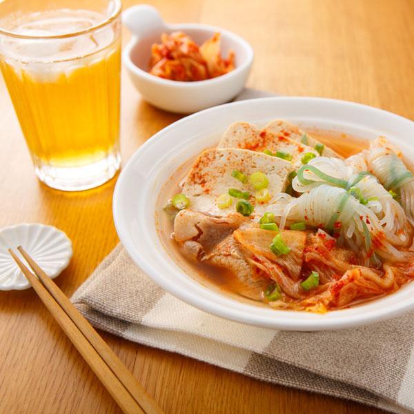 泡菜蒟蒻絲湯麵