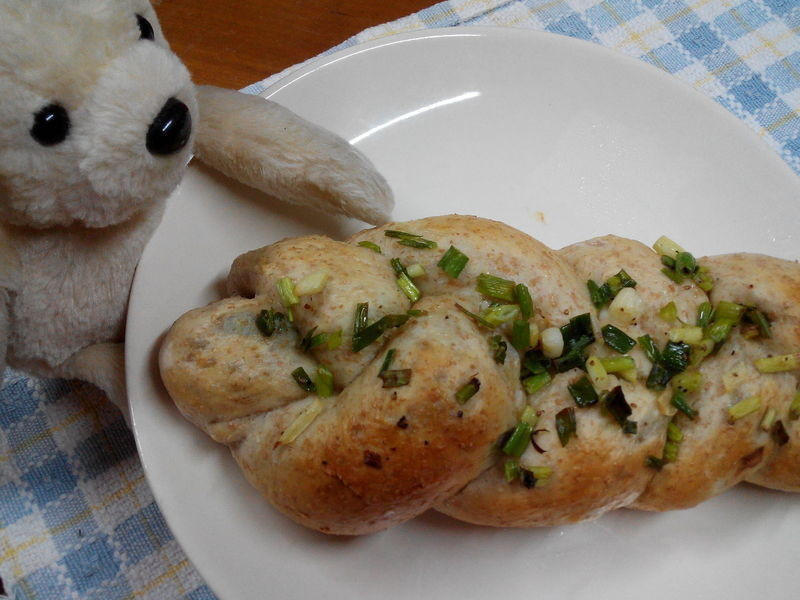 蔥花肉鬆麵包【パンの鍋(胖鍋)製麵包機】