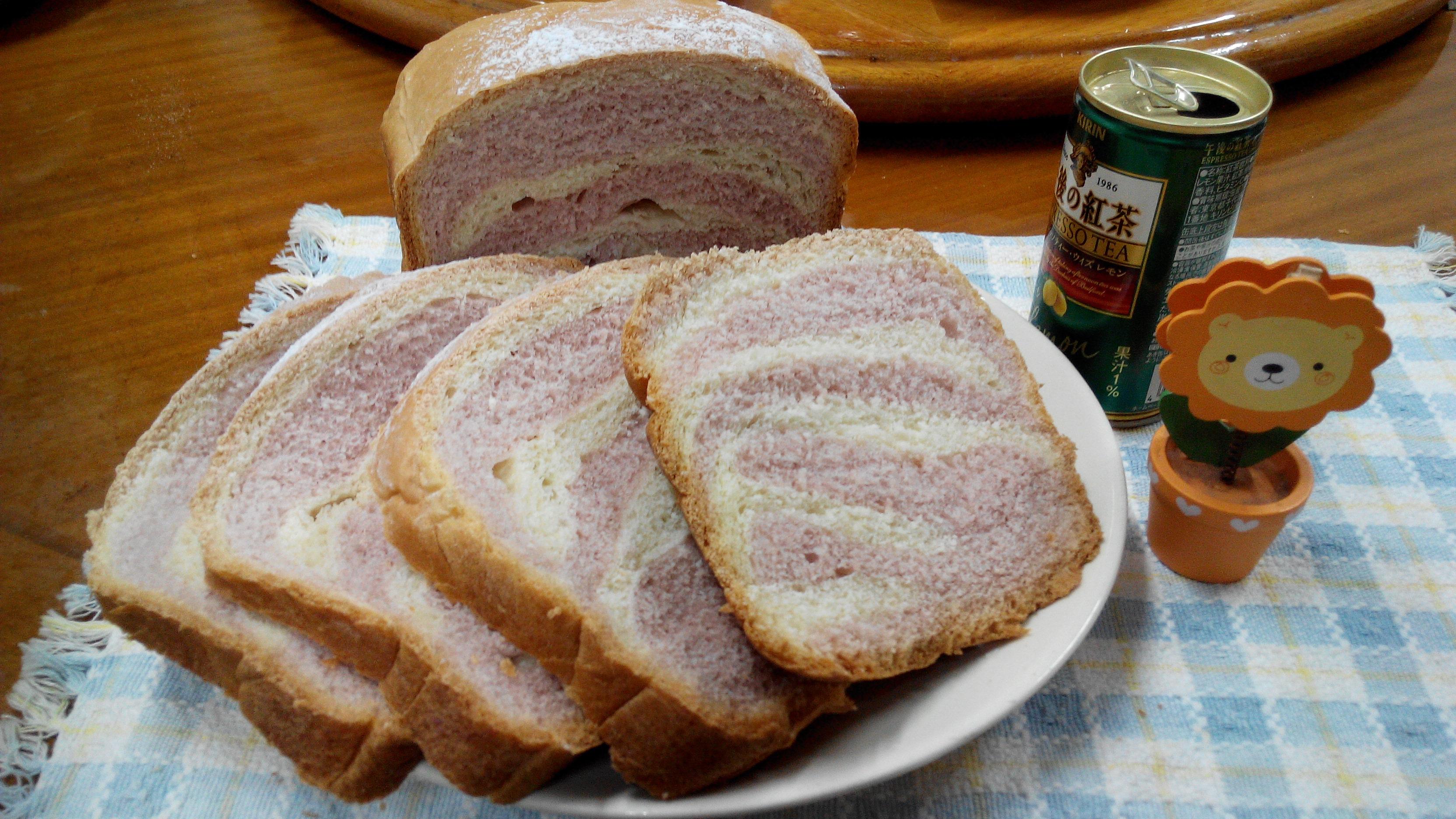 斑馬紋麵包-パンの鍋(胖鍋)製麵包機