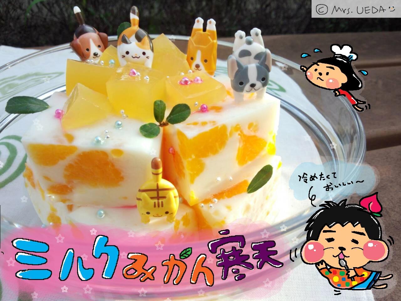 閃亮亮柑橘牛奶寒天凍(上田太太愛料理)
