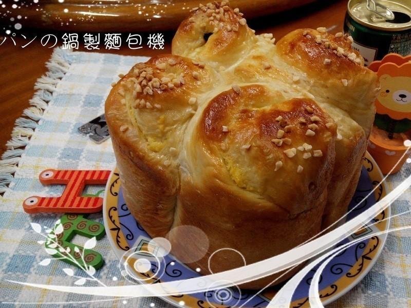 葡萄奶酥麵包-パンの鍋(胖鍋)製麵包機