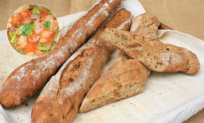 自製莎莎醬(佐)雜糧堅果麵包