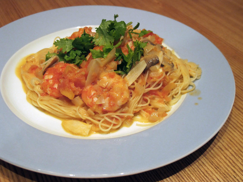 奶油茄汁蝦仁義大利麵