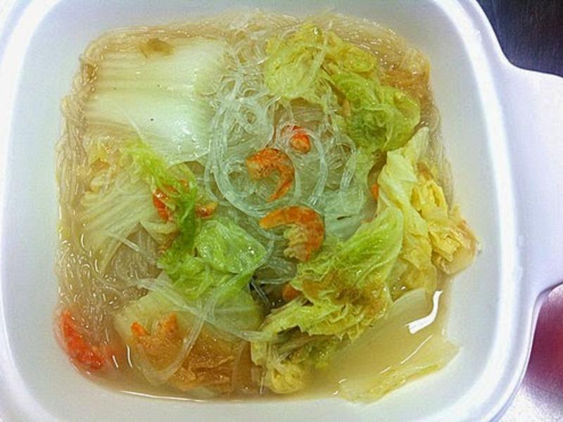紹菜蝦米粉絲煲