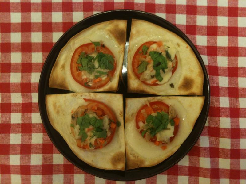 【5分鐘】香草鮮蔬鮪魚披薩