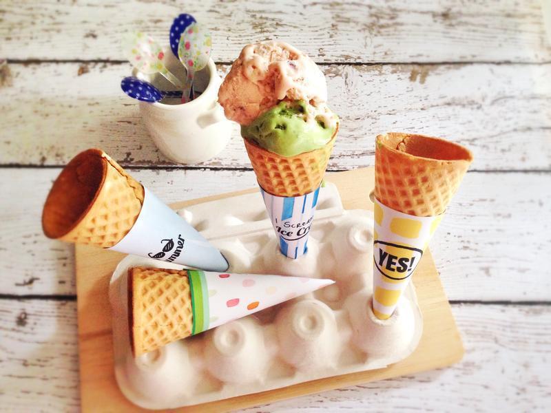 抹茶冰淇淋&甜筒包裝下載
