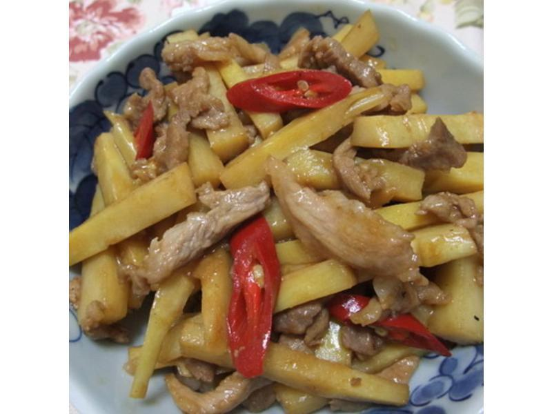 傳說中的竹筍炒肉絲