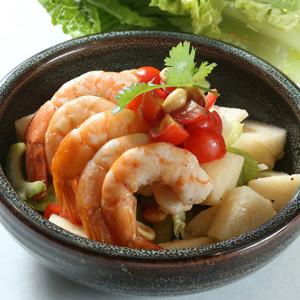 蝦仁水梨芹菜沙拉