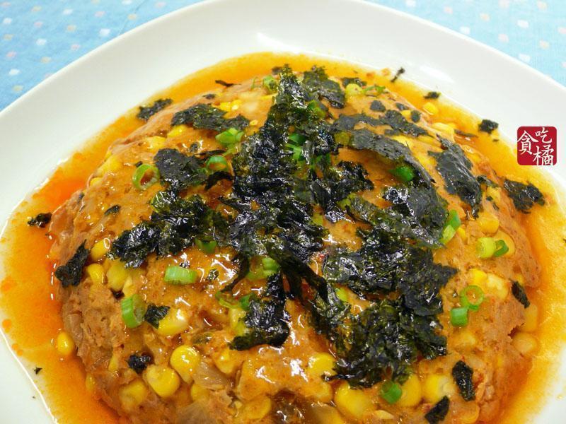 meat loaf 3☆泡菜玉米辣蒸肉餅