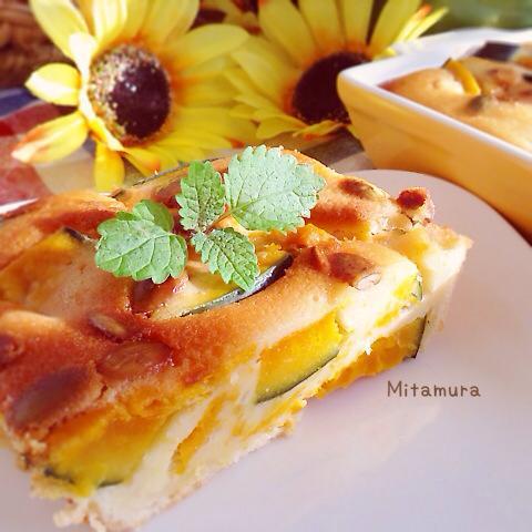 南瓜布丁蛋糕(拌一拌輕鬆烤)