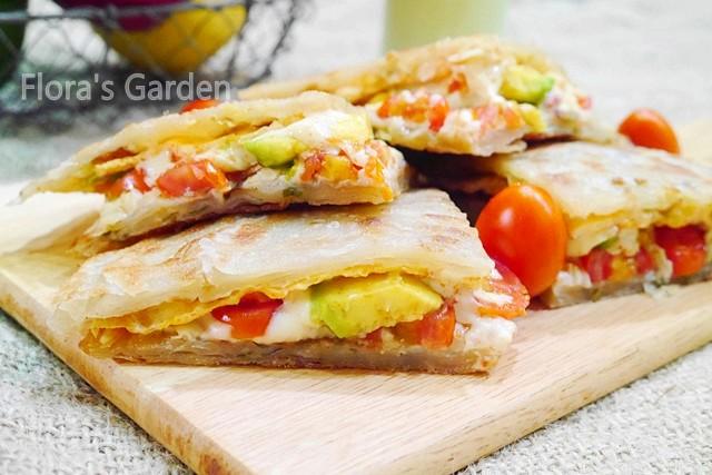 蔥油餅三明治