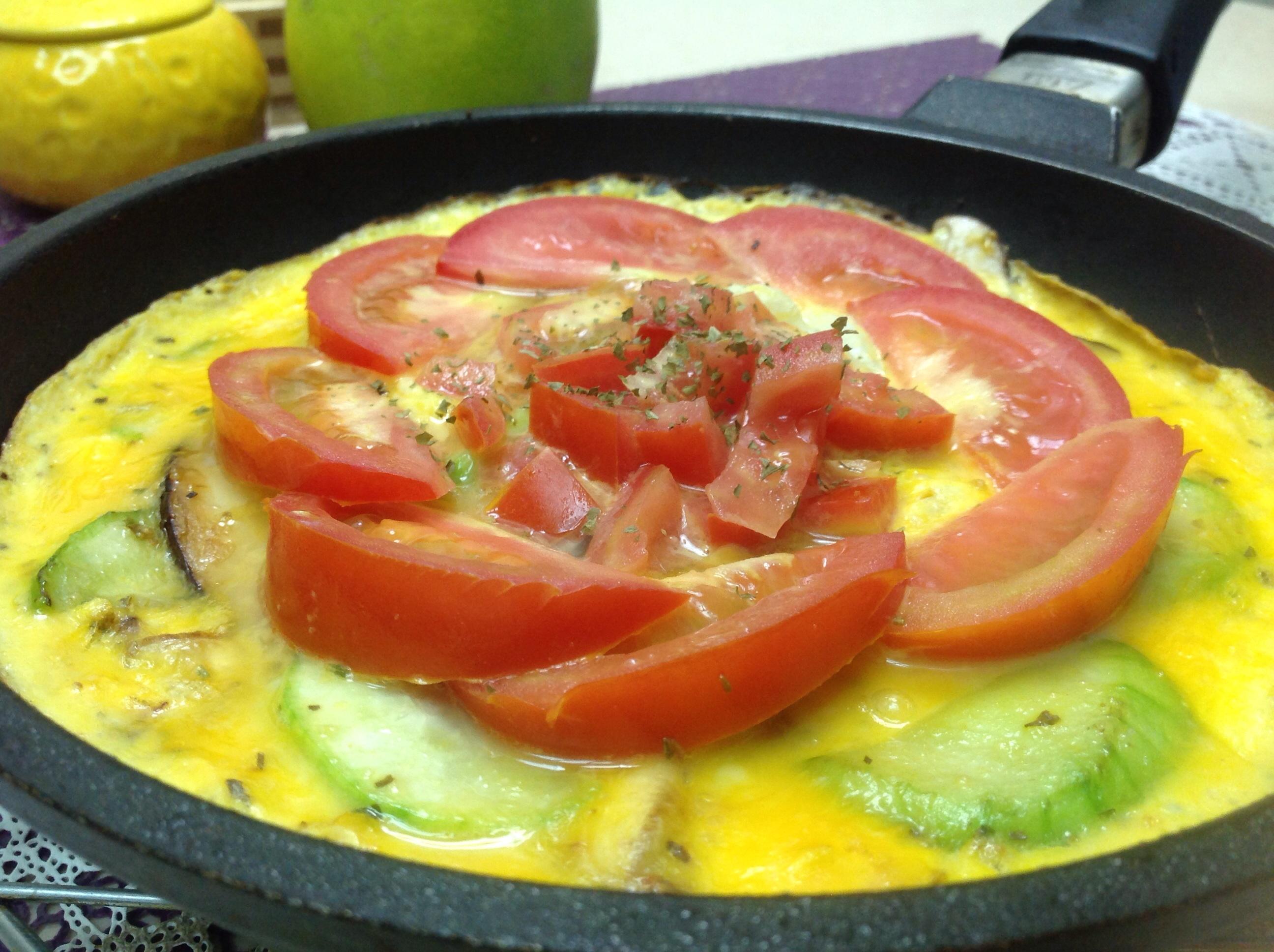 絲瓜香菇番茄烘蛋(家樂福廚神大賽)
