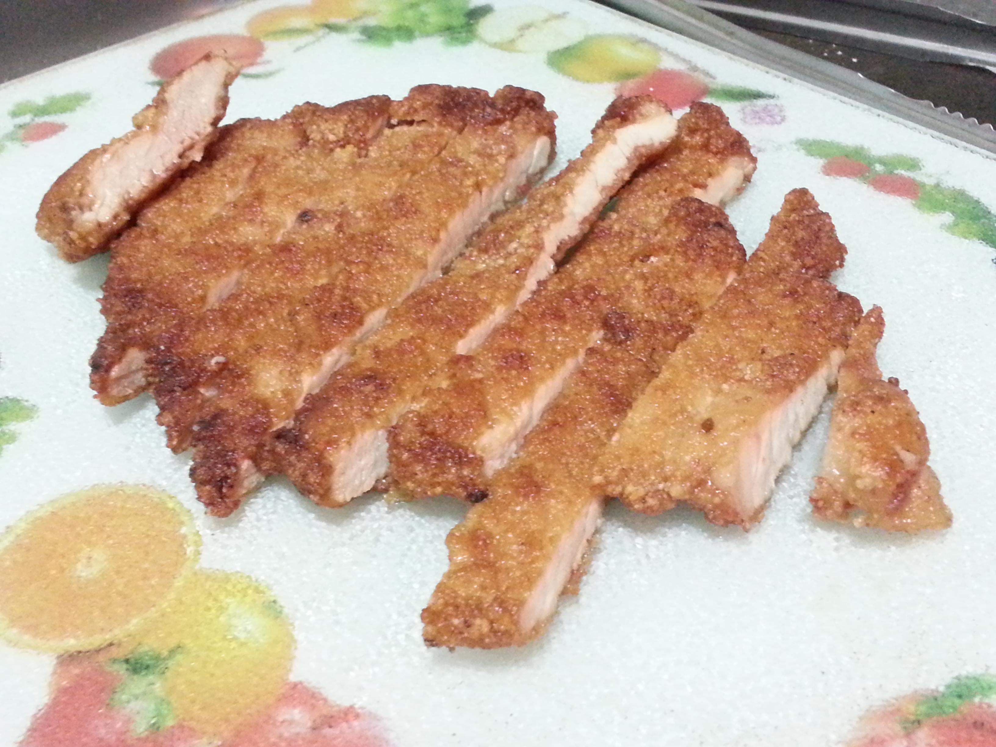 紅麴炸(煎)豬排