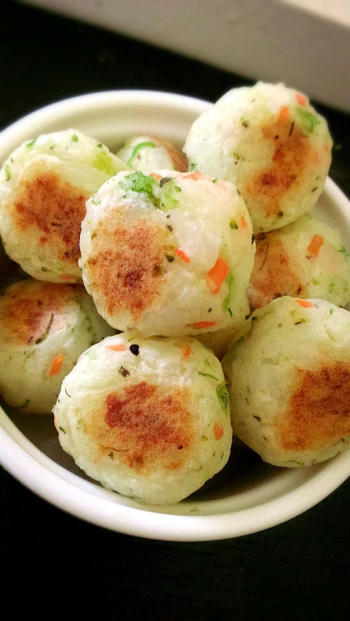 薯泥蔬菜米飯丸子(寶寶手指食物)