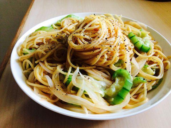 絲瓜義大利麵