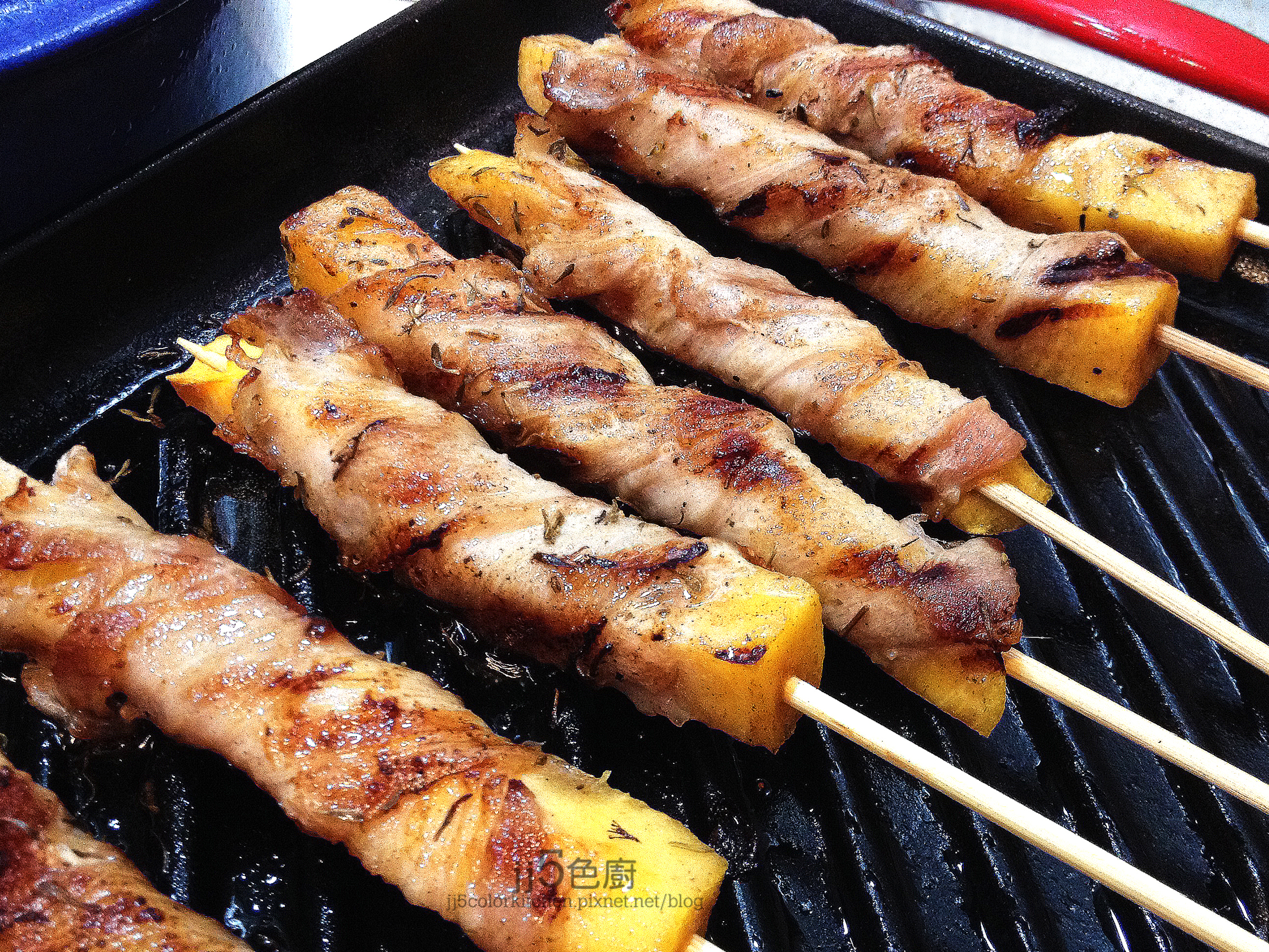 甜柿烤肉串