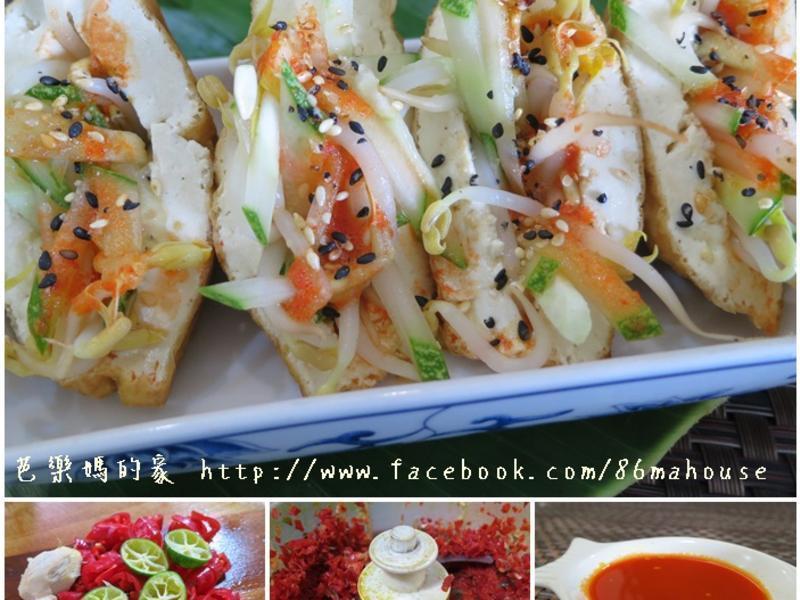 輕食料理-豆腐釀黃瓜豆芽
