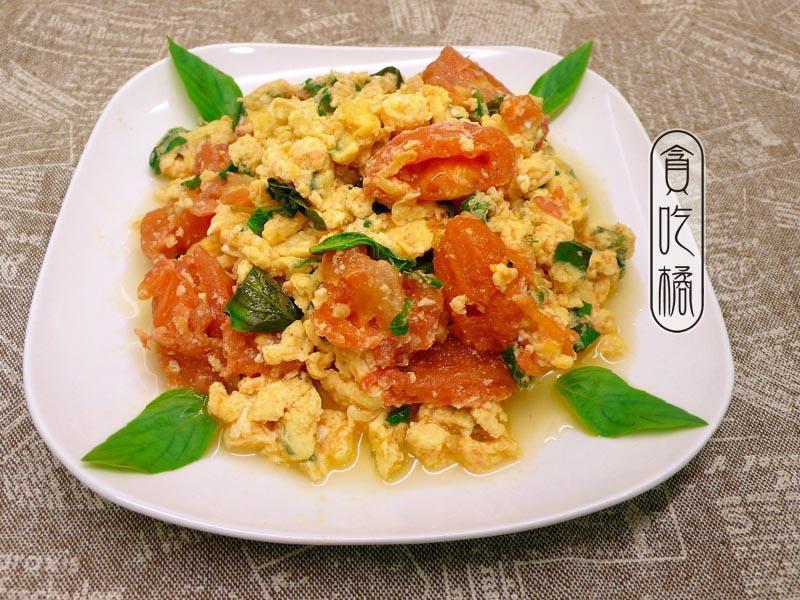 塔香番茄炒蛋 ♥趣味番茄炒蛋2