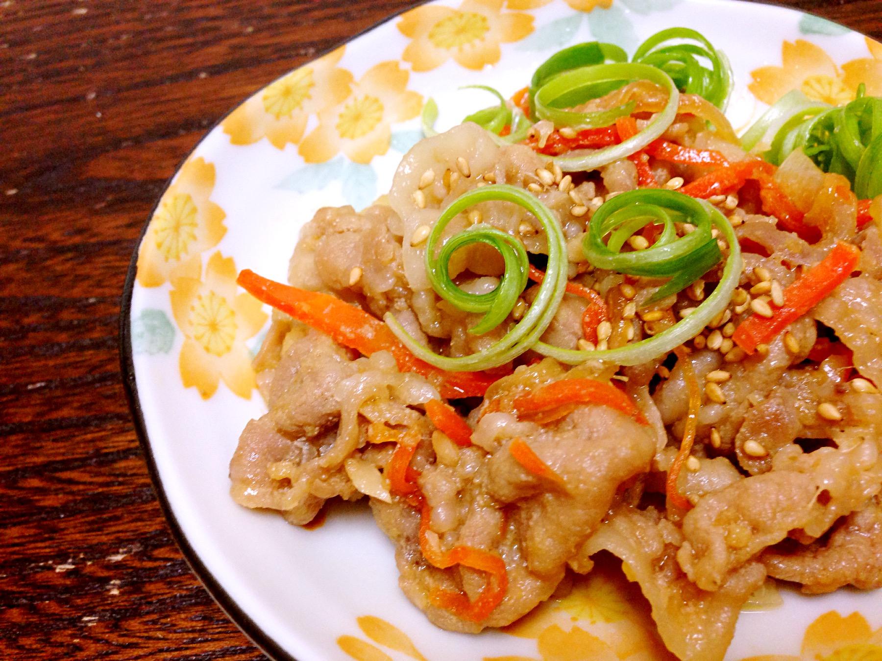 日式味噌薑燒豬肉