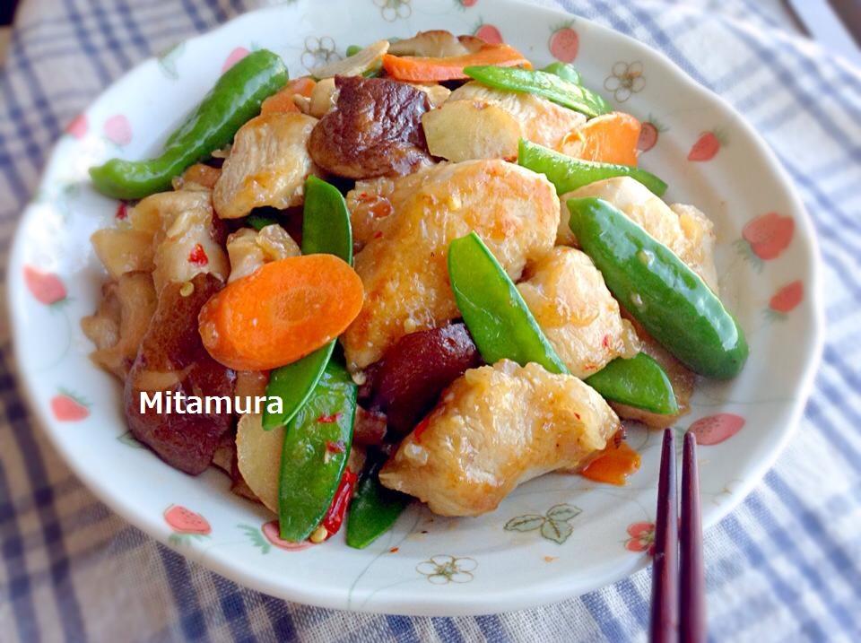 雞胸肉炒鮮蔬(不乾柴的訣竅)
